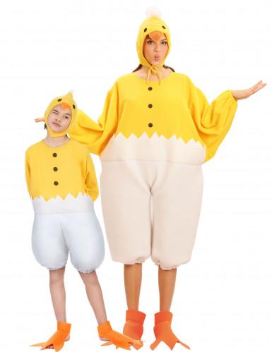 Costumi da coppia pulcini madre e figlio