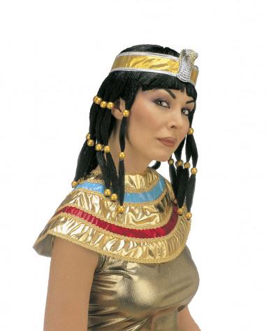 Parrucca cleopatra bruna donna