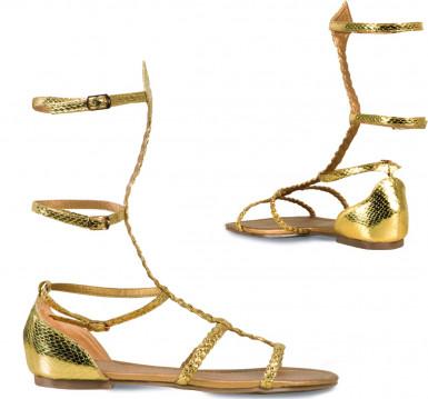 Sandali dorati donna