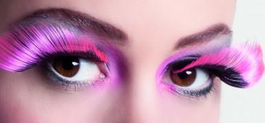 Ciglia finte XL nere e rosa