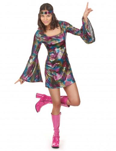 Costume da disco technicolor per donna
