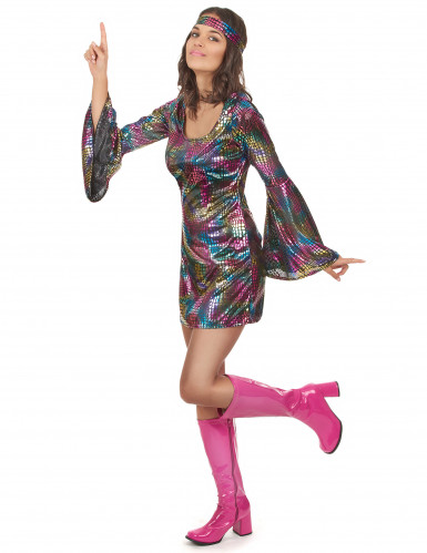 Costume da disco technicolor per donna-1
