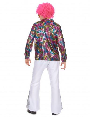 Costume camicia da disco technicolor da uomo-2