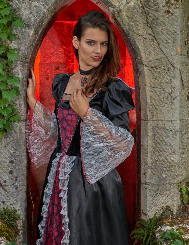 Costume da donna vampiro per Halloween-4
