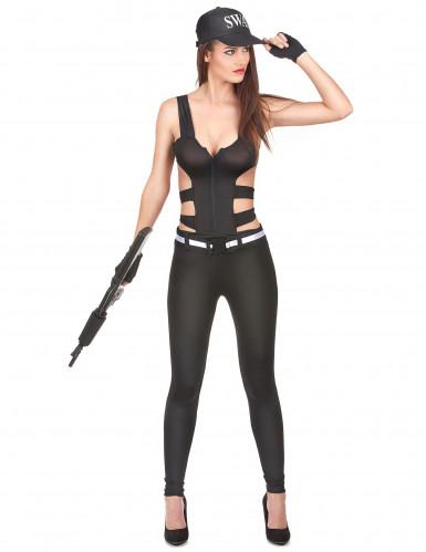 Costume poliziotto SWAT donna