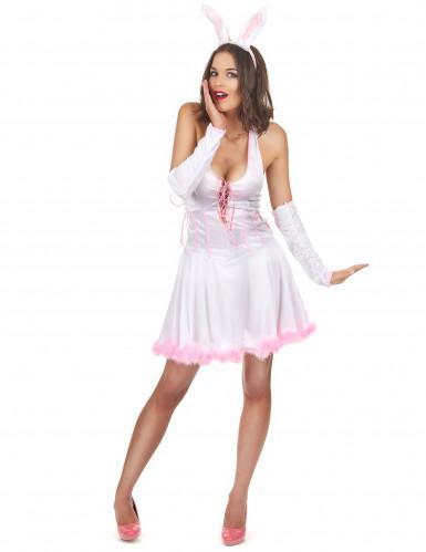 Costume coniglietta sexy rosa da donna