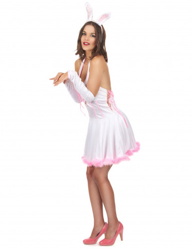 Costume coniglietta sexy rosa da donna-1