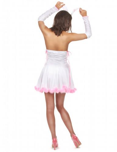 Costume coniglietta sexy rosa da donna-2