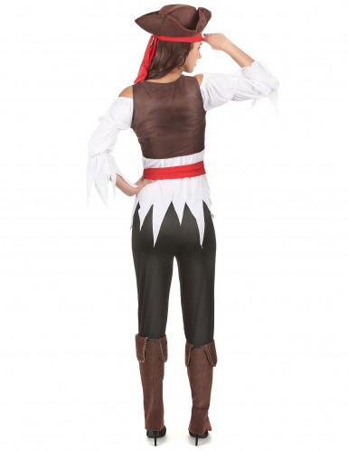 Costume con gilet da pirata donna-2