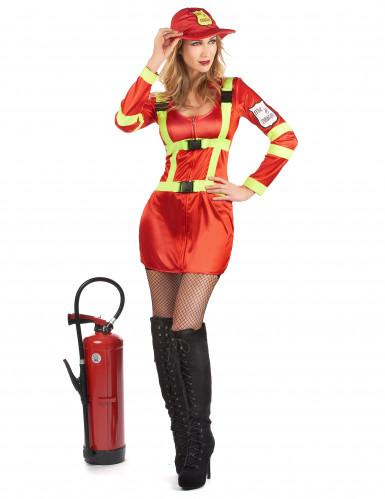 Costume pompiere coraggioso per donna-1