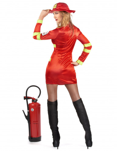 Costume pompiere coraggioso per donna-2