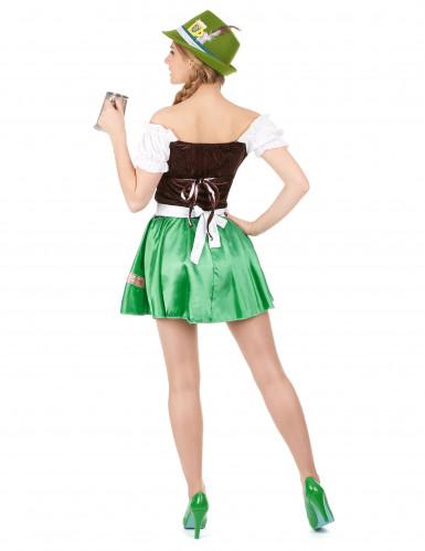 Costume da bavarese con gonna verde per donna-2