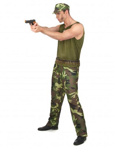 Costume militare con berretto per uomo-1