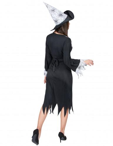 Costume da strega con dettagli ragnatela per donna-2