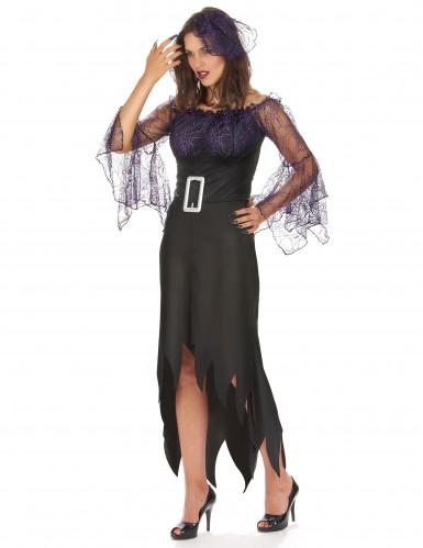 Costume donna ragno viola-1