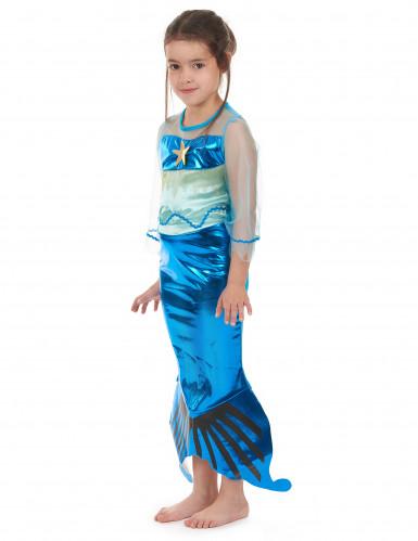 Costume da sirena in turchese per bambina-1