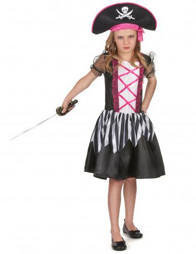 Costume da piratessa nera e viola per bambina