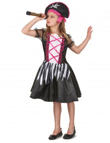 Costume da piratessa nera e viola per bambina-1