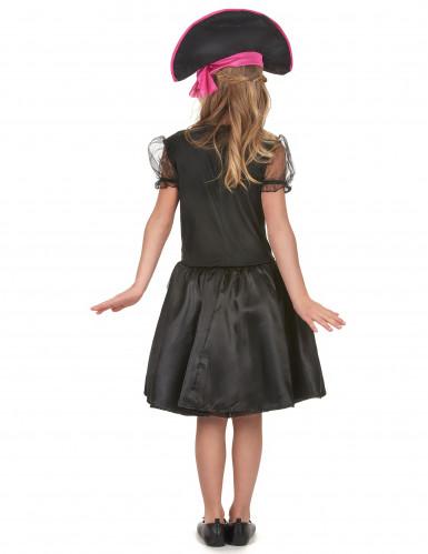 Costume da piratessa nera e viola per bambina-2