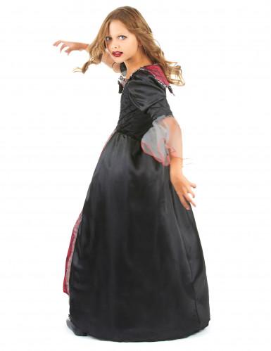 Costume da vampiro rosso e nero con pizzo bambina-2