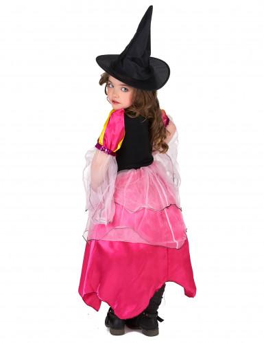 Costume strega rosa bambina-2