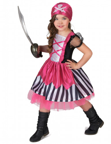 Costume da piratessa in rosa per bambina