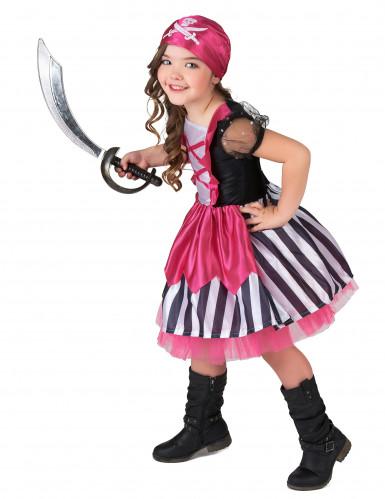 Costume da piratessa in rosa per bambina-1