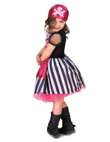 Costume da piratessa in rosa per bambina-2