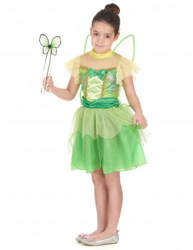 Costume magica fatina verde bambina-1