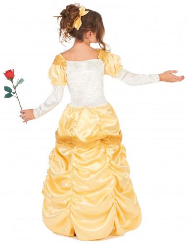 Costume da bella principessa in giallo per bambina-2