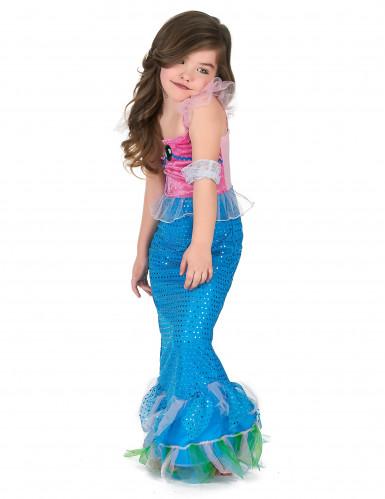 Costume da sirena in rosa e azzurro per bambina-1