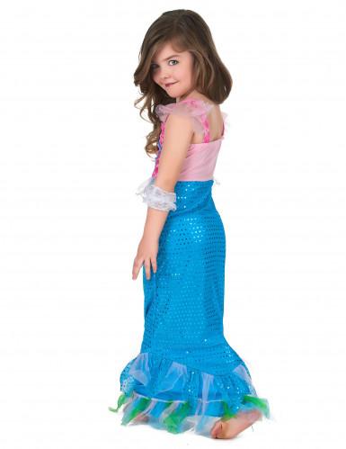 Costume da sirena in rosa e azzurro per bambina-2