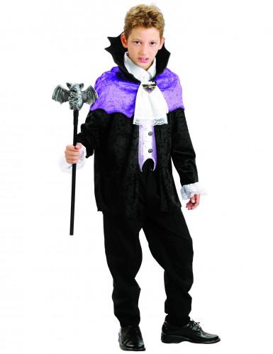 Costume vampiro con mantellina viola bambino