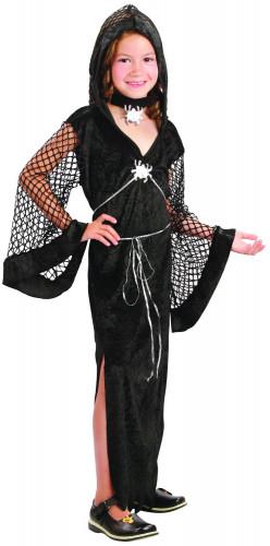 Costume vedova nera bambina Halloween