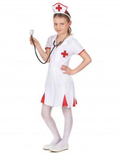 Costume infermiera della croce rossa bambina-1