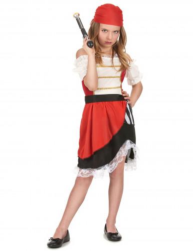 Costume pirata gonna asimmetrica bambina
