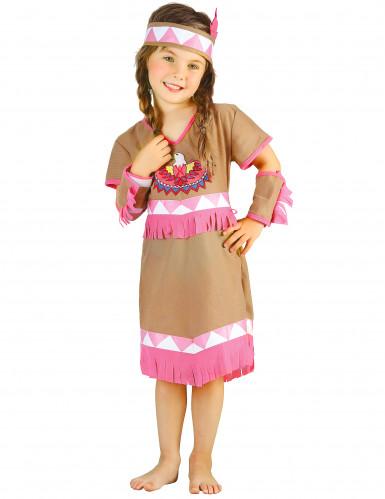 Costume indiana bianca e rosa per bambina-3