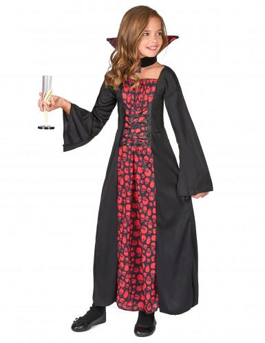 Costume vampiro con teschi per bambina-1