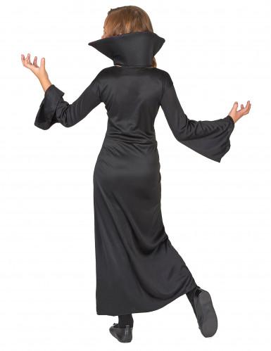 Costume vampiro con teschi per bambina-2