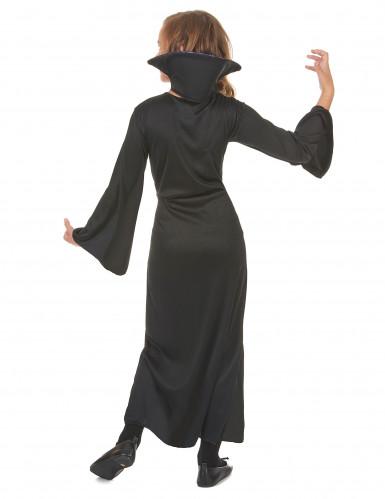 Costume vampiro viola con teschi bambina-2