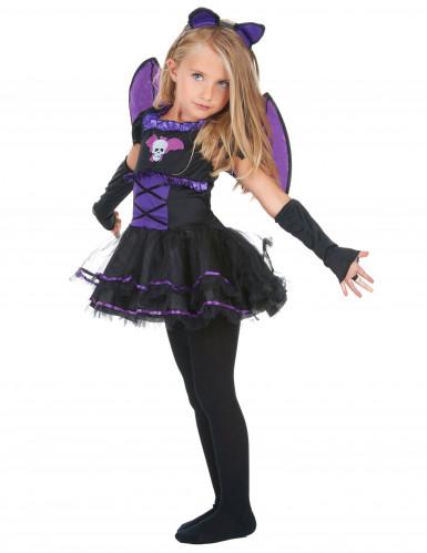 Costume da pipistrello viola bambina-1
