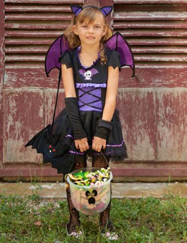 Costume da pipistrello viola bambina-4