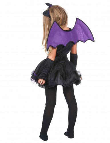 Costume da pipistrello viola bambina-2