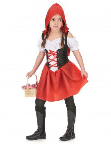 Costume damina dal cappuccio rosso bambina-1