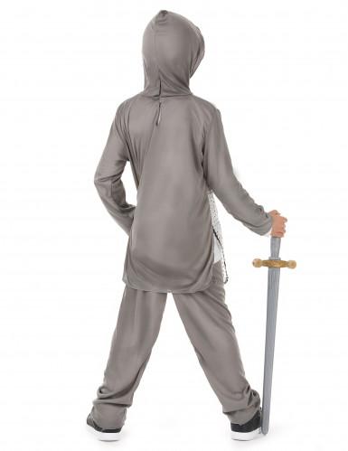 Costume cavaliere con croce argentata bambino-2