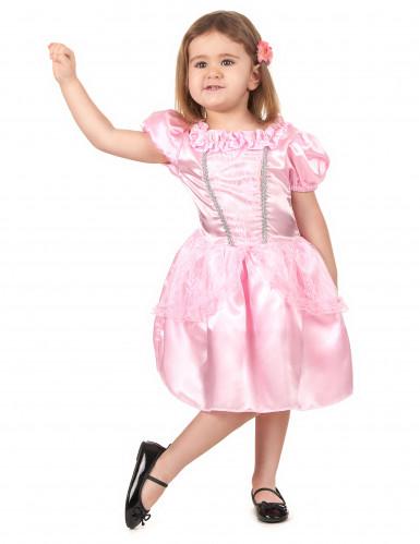 Costume principessa rosa bambina-1