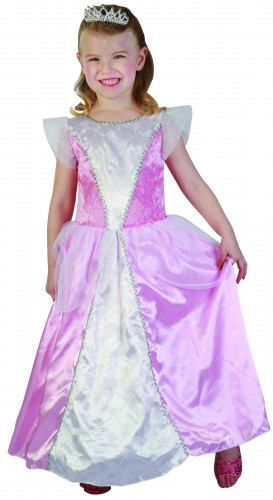 Costume principessa rosa e bianco bambina