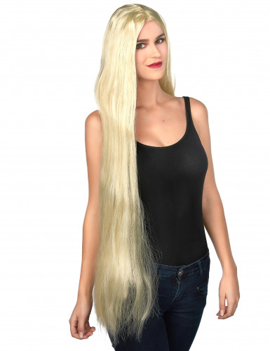 Parrucca lunga bionda 90cm