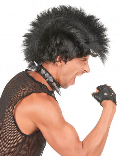 Parrucca punk nera uomo