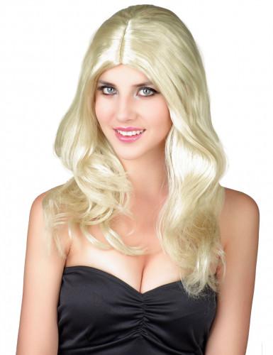 Parrucca bionda capelli lunghi